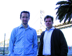 Microcinema International Co-Founders: left: Joel S. Bachar right: Patrick Kwiatkowski photo credit: JD Beltran